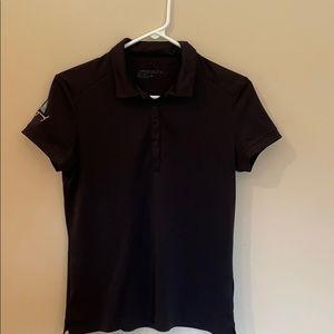 EUC Nike Golf Dri-fit Polo Black Sz Med